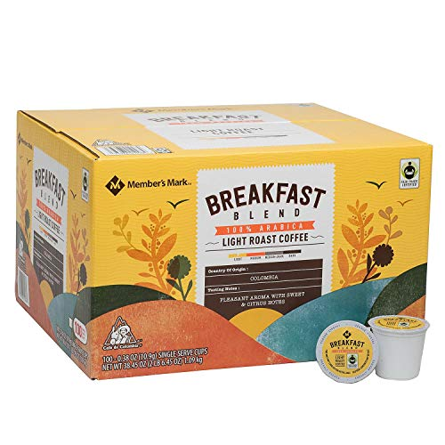 Member's Mark Breakfast Blend Coffee 100/0.38 Oz Net Wt 38.45 Oz,, ()