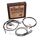 Burly Brand Extended Cable/Brake Line Kit for 12in. Ape Handlebars - Black Vinyl B30-1106