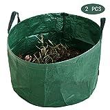 TTFGG Jardín Bolsa De Residuos,1/2/3 PC Heavy Duty Jardín Reutilizable Residuos Bolsas De Basura Sacks Ideal para Hojas,Hierba Esquejes,Weeds Y Otros Residuos (81 X 46Cm),02