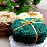 TIGOWL Alfombrilla de Ganchillo Hecha a Mano clásica Alfombra Redonda Alfombra Redonda Alfombra Colorida Alfombra de Piso Vintage Crochet Dolly 20 cm (8 Pulgadas)
