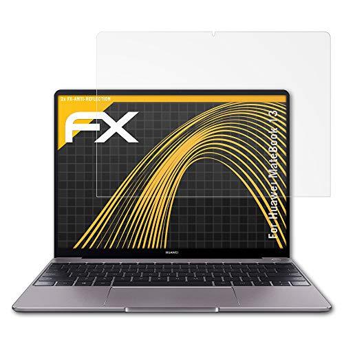 Panzerfolie kompatibel mit Huawei MateBook 13 Schutzfolie, entspiegelnde und stoßdämpfende FX Folie (2X)