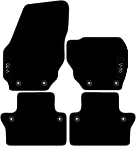 Volvo V70 2008 2016 Auto Tailored Carpet Car Floor Mats with logo Clips