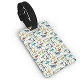 Equipaje Accesorios Accesorios de Viaje Etiquetas para Equipaje Brown Sloth Luggage Tag Travel Identifier Labels Set for Bags Baggage Suitcase