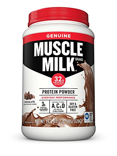 Muscle Milk Genuine Protein Powder, Chocolate, 32g Protein, 2.47 Pound