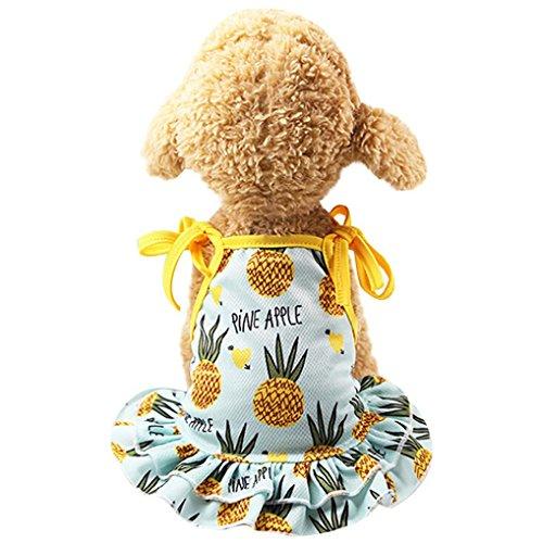 OOEOO Haustier Hemd Pärchen Kleid Welpen Hund Prinzessin Doggie Bekleidung Kostüm Kleidung Ananas Kleid M
