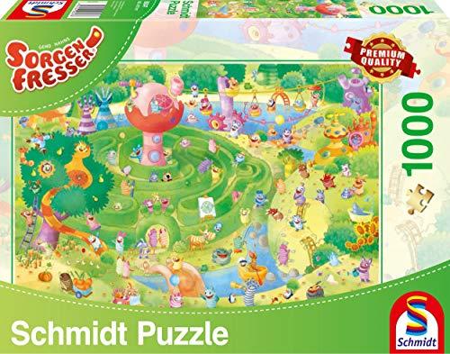 Schmidt Spiele Puzzle 59370 Puzzle 1.000 Teile, Sorgenfresser, Im Labyrinth