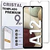 REY Protector de Pantalla para Samsung Galaxy A12 - Galaxy M12, Cristal Vidrio Templado Premium