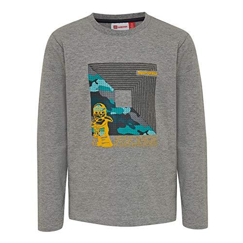 Lego Wear Jungen LWTIGER 787-T-SHIRT L/S Langarmshirt, Grau (Grey Melange 921), (Herstellergröße: 122)