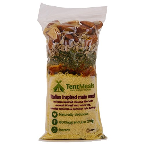 TentMeals Camping and Expedition Food: Italian Inspired Main Meal, 1x Large 800 kcal pack (1)