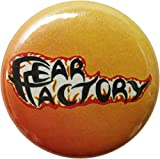 Fear Factory - Logo (Red And Orange And Black) -1 1/4' Button/Pin