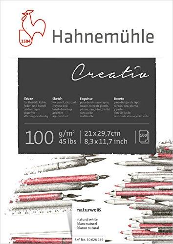 Hahnemühle 10628245 Zeichenblocks und Skizzenbücher Skizzenblock 100g 100 Blatt