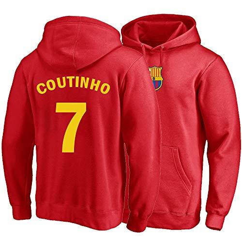 XH Herren Damen Hoodie Philippe Coutinho # 7 Trikots Kapuzenpullover Loses Fußball-Sweatshirt S-XXXL (Color : B, Size : Medium)