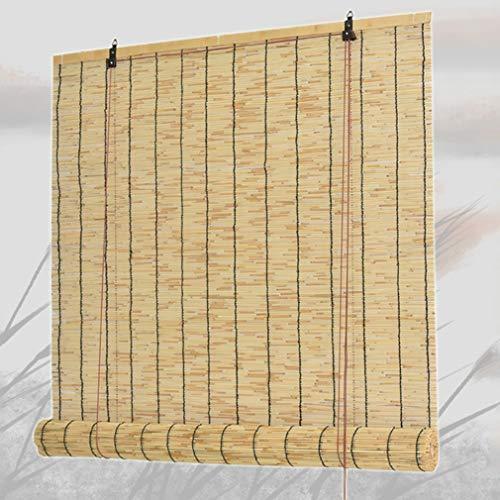 NIANXINN Persianas Enrollables de Bambú - Persianas de Caña - Cortinas Opacas,Tejidas a Mano Persianas de Decoración para el Hogar Vintage,para Interiores/Exteriores,Personalizados(80x180cm/32x71in)