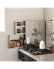 キッチン 家電 キッチン収納 水切り スパイスラック 調味料ラック ステンレス製 大量スパイスステーション 3段 589702