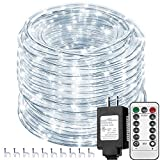Solhice 66ft 335 LEDs Rope Lights White Outdoor with Remote Control, Waterproof Dimmable...