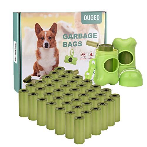 Bolsas Caca Perro, Bolsas para excrementos de Perro, Poop Bag para Mascotas Domésticos de 42 Rolls, Total 630 Bolsas con 2 Dispensadores