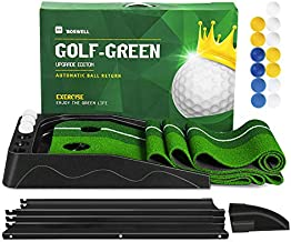 BOSWELL Indoor Golf Putting Green Mat, Automatic Ball Return Golfing Green Mat,Golf Gifts for Men, Father's Day, Indoor Use, Golf Training Mat, Training Aid,Practice with 13 Balls