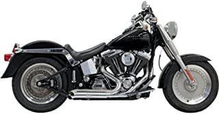 Bassani Xhaust 98-17 Harley FLSTC Pro Street Turn Out Exhaust (Chrome)