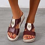 ypyrhh Sandalias Moda Casual,Zapatillas Casuales de tamaño Informal, Pendiente y Damas.-Rojo_42,para Hombre Chanclas Slider