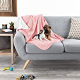 PETMAKER Waterproof Pet Blanket – 40inx30in Plush Lap Throw Protects Couch, Chair, Car, Bed from Spills, Stains, or Fur-Machine Washable (Gray)