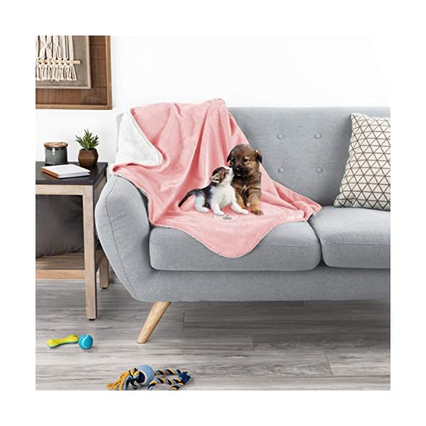 PETMAKER Waterproof Pet Blankets – Soft Plush Throw Protects Couch, Chairs, Car, or Bed from Spills, Stains, or Pet Fur-Machine Washable