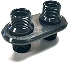 Black Aluminum 2 Port (1-L 1-L) Ac Air Conditioning Heater Hose Firewall Bulkhead