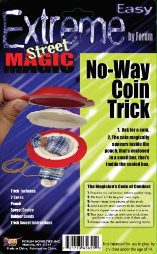 Forum Novelties Extreme Street Magic - No way Coin Trick