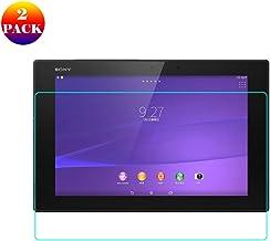 INSOLKIDON 2-Pieza Compatible con Sony Xperia Z2 Tablet / Z4 Tablet Protector de Pantalla Vidrio Templado Película Cobertura Total Transparente 3D Protector Vaso Sony SGP512 SGP541 (Z4)