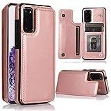 ZYZX - Funda tipo cartera para Samsung Galaxy A71 (no A71 5G) con tarjetero, función atril, ranuras para tarjetas, cierre magnético doble y funda resistente a los golpes para Samsung Galaxy A71 4G, color rosa