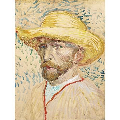 Vincent Van Gogh zelfportret met strohoed grote ingelijste kunstdruk