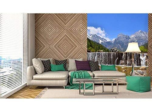 Vlies Fotobehang ALPEN | Niet-Geweven Foto Mural | Wall Mural - Behang - Reusachtige Wandposter | Premium Kwaliteit - Gemaakt in de EU | 225 cm x 250 cm