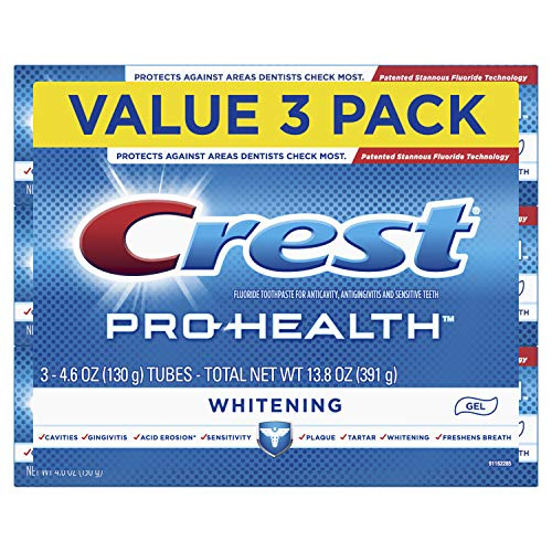 Price comparison product image Crest Pro-Health Whitening Gel Toothpaste,  4.6 oz,  3 Count,  Triple