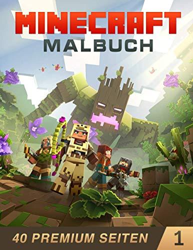 Minecraft Malbuch 1: Dieses Buch für Kinder und Erwachsene enthält über 40 Bilder mit erstaunlicher Qualität.