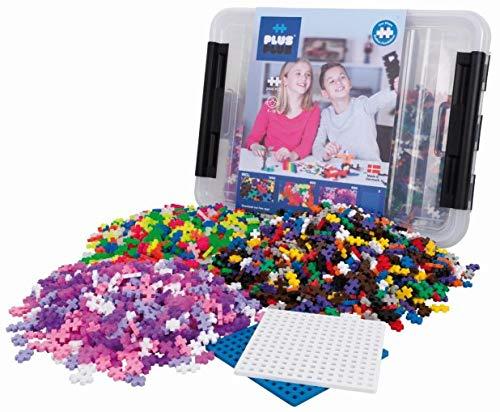 Plus-Plus PP3406 9603406 Kreativ-Bausteine Box, Geniales Konstruktionsspielzeug, 2400 Teile, Basic, Rosa