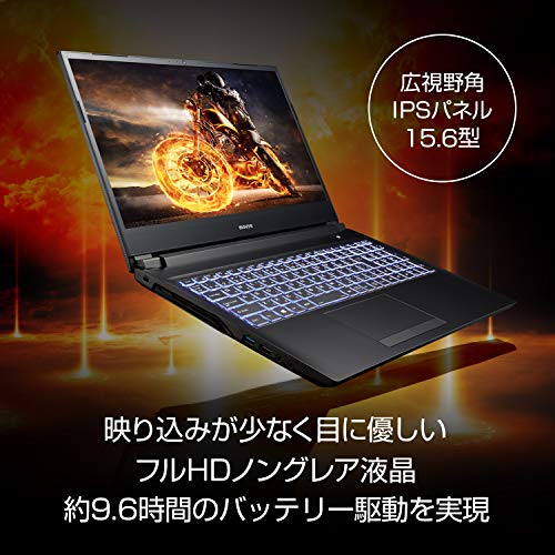 G-Tuneゲーミングノートパソコン15.6型フルHDNG-N-HA78SHZI/Corei79750H/1650/8GB/256GB/Win10
