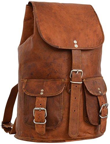 Gusti Rucksack Cityucksack Vintage Braun Leder
