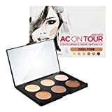 Australis AC ON TOUR Cool Tone Complexion Cream Highlight Natural Glow Makeup Contour Kit