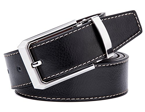 Tonly Monders Men's Belt Leather Reversible Black Brown 41″-43″