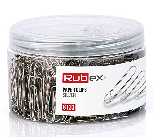 700 Rubex Paper Clips, Silver Paper Clips, Small, Medium, Big Assorted Sized Paper Clips, Durable and Rustproof, Great for Office School Document Organizing Clips (Silver 700 Count)
