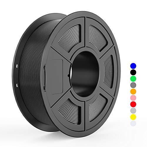 3D Printer PLA Filament 1.75mm Black,TECBEARS 3D Printing Filament Dimensional Accuracy +/- 0.02 mm 2.2LBS (1 Kg) Spool No-Tangle