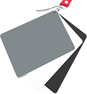 Ladieshow 30cm Balance Card,Folding 18/% Grey White Balance Reference Card with Bag Photography Accessory