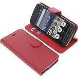 foto-kontor Tasche für Doro 8040 Book Style rot Schutz