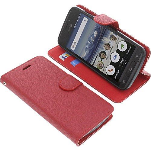 foto-kontor Tasche für Doro 8040 Book Style rot Schutz Hülle Buch