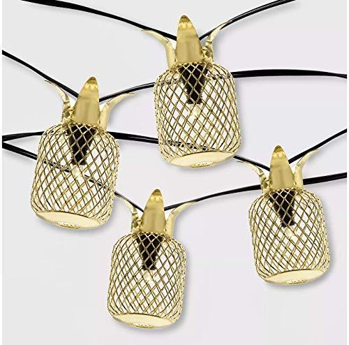 OpalHouse 20ct Outdoor Pineapple LED Solar String Lights