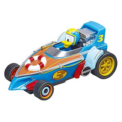 Carrera Toys First Mickey and The Roadster Racers Set Pista da Corsa a Batteria e Due Macchinine con Topolino e Paperino, Gioco Adatto per Bambini dai 3 Anni, Multicolore, 20063029