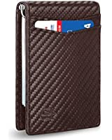 Zitahli Minimalist Slim Bifold Front Pocket Wallet with Upgraded Money Clip for Men, RFID Blocking with 1 ID Window