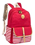 Leaper School Backpack for Kids Daypack Travel Bag with Side Pockets Red