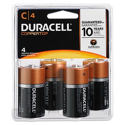Duracell Coppertop Alkaline Batteries C 4 ea