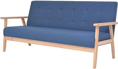 vidaXL Sofá con reposabrazos, sillón, sofá tapizado, sofá de ...