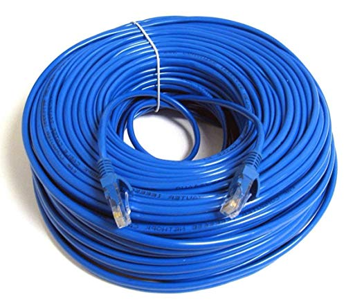UbiGear 150ft Blue RJ45 CAT6 Ethernet LAN Network Internet Computer Patch Solid Wire 23 AWG UTP Cable